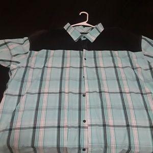 Sean John Short Sleeve Button Up 4XL